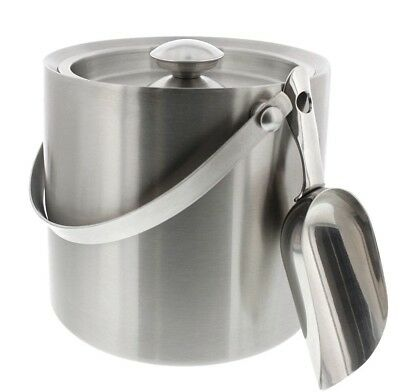 Insulated Double Wall Construction Stainless Steel Ice Bucket with Lid Scoop