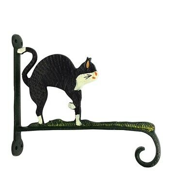 Cast Iron CAT HOOK Wall Bracket Multi Colour Metal Home Decor
