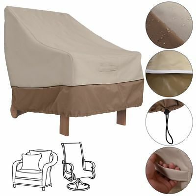 US Waterproof Outdoor High Back Patio Single Chair Cover Protection Furniture QC
