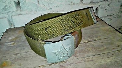 Original 1950s ussr russian soviet red army soldier belt military warehouse