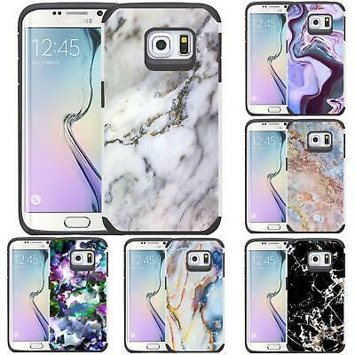 Marble Design Slim Hybrid Case Dual Layer Cover for Samsung Galaxy S6