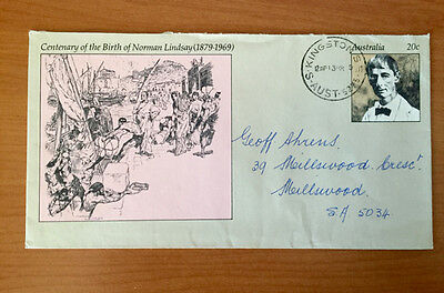 1979 20 cent Centenary of Norman Lindsay - Pre Stamped Envelope - Used - Rare
