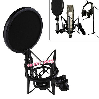 Audio Professional Condenser Microphone Mic Studio Sound Recording W Shock QC