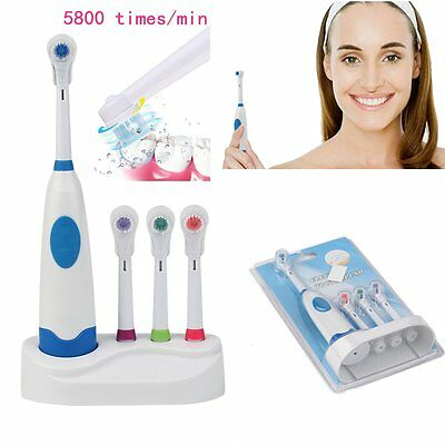 Electric Automatic Toothbrush Teeth care With 3 Replacement Brush Head kit RJ