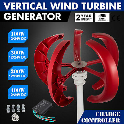 100-400W Wind Generator Vertical Lantern WIND RESISTANCE RED 12V/24V EXCELLENT