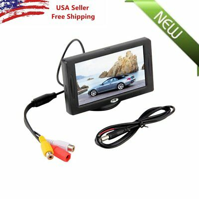 "Car Rear View System Backup Reverse Camera Night Vision 4.3"" TFT LCD Monitor Q9"