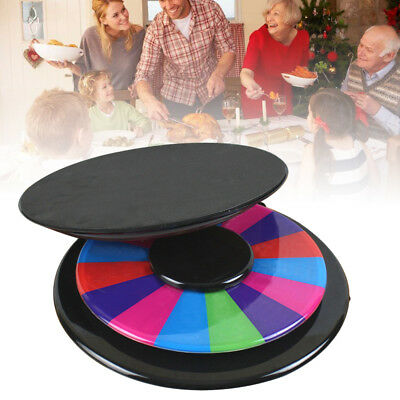 """12"""" DIY Color Prize Wheel of Fortune Tabletop 16 Slot Carnival Spin Game Show US"""