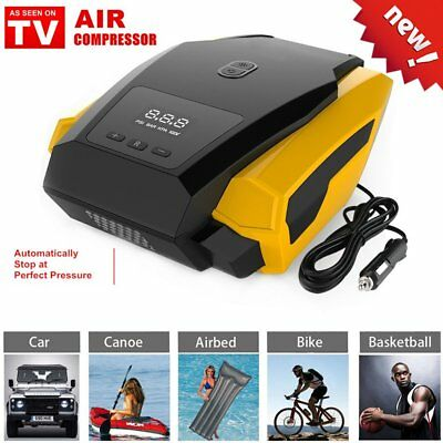 "AIR Compressor 12V Portable Digital Car Pump Inflator Tire Tyre ""As Seen On V9"