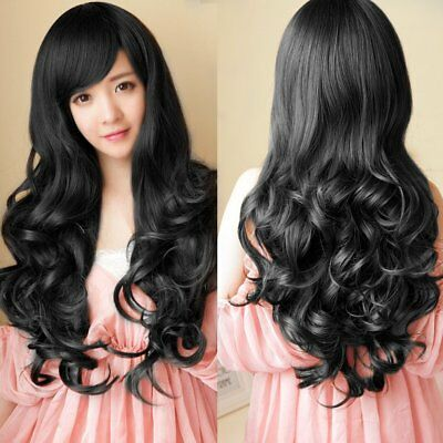 Sexy Long Wavy Wig Women Synthetic Heat Resistant Cosplay Hair Full Head EN