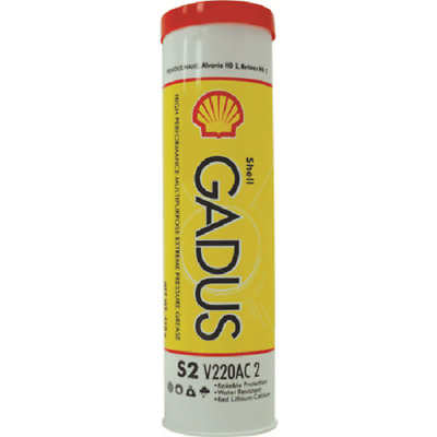 2x Shell GADUS INDUSTRIAL GREASE S2 V220AC2 450g Oxidation Stability *Aust Made
