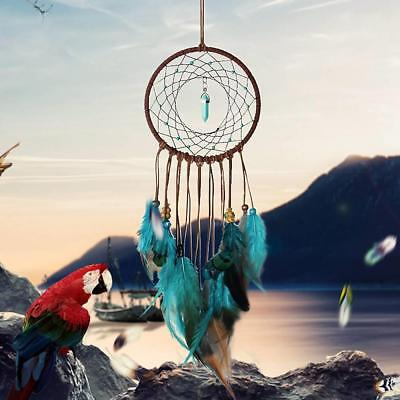 Traditional Blue Dream Catcher with Feathers Wall Or Car Hanging Ornament