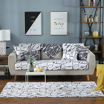 Removable Home Slipcover Sofa Couch Cover Quilted Pet Protector 1 2 3 Seater