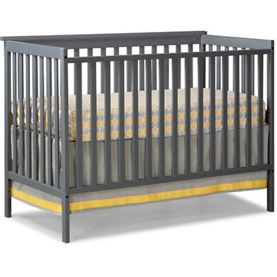4 in 1 Convertible Crib Toddler Nursery Bed Furniture Baby NEW