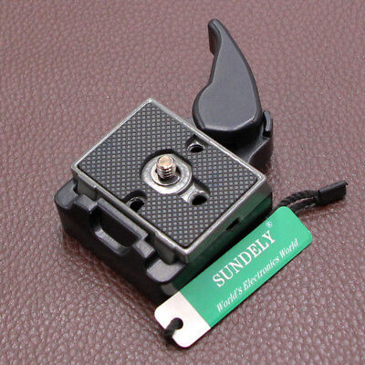 AU 323 Quick Release Clamp Adapter 200PL-14 QR For Manfrotto Tripod