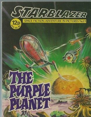 The Purple Planet,no.11,starblazer Space Fiction Adventure In Pictures,comic