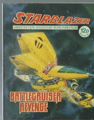 Battlecruiser Revenge,no.14,starblazer Space Fiction Adventure In Pictures,comic