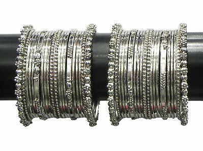 Indian Trend Silver Plated Banlges Set Size_2.8