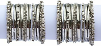 Indian Trend Silver Plated Banlges Set Size_2.6