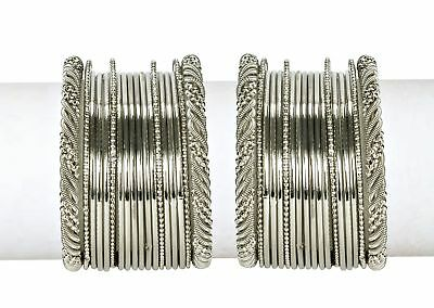 Indian Trend Silver Plated Bangles Set Size_2.4