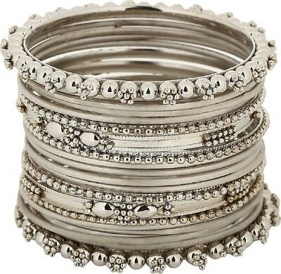 Indian Trend Silver Plated Banlges Set Size_2.4