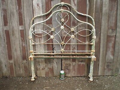 Vintage Antique Victorian Iron Bed Head and Foot
