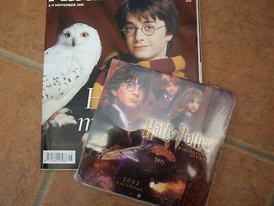Small Harry Potter Calendar (2002) (The Sorcerers Stone) And Radio Times