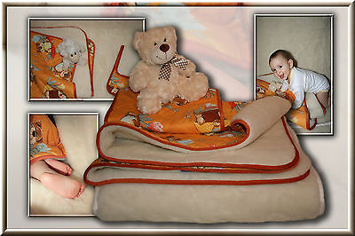 Three-Part kinder-bettset Upper Bed Under Bed Pillow made in Germany