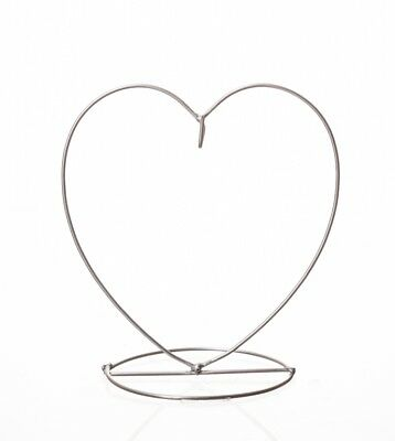 Crystal Orb friendship ball Holder, Heart shaped silver finish by Amelia Art