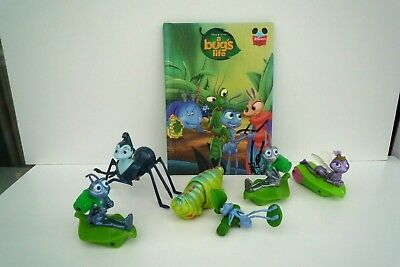 Disney A Bug's Life Plastic Figures and Book