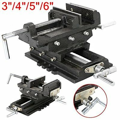 "4"" 5"" 6"" Cross Drill Press Vise Slide Metal Milling 2 Way X-Y Clamp Machine QE"