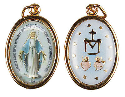 medal gold finish - miraculous medal - 2 sided