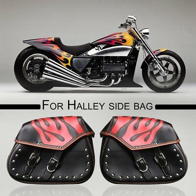 2* Motorcycle Helmet Saddle Bag Motorcycle Side Riding Travel Bag for Halley +