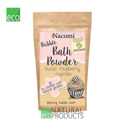 Nacomi Natural Relaxing Bubble Bath Powder Sweet Raspberry Cupcake 100g