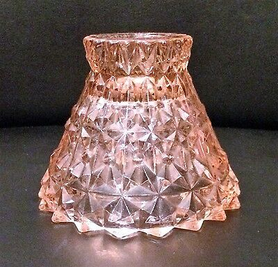 Holiday Pink Depression Glass Candlestick