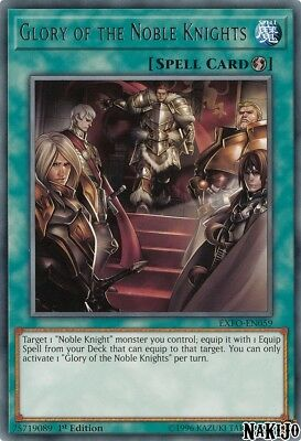 Yugioh - 3x Glory of the Noble Knights EXFO-EN059 Rare - 1st Ed - NM/M
