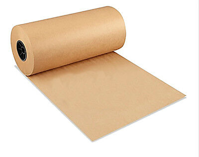 """Brown Kraft Paper Roll 40# 18"""" Shipping Wrapping Packaging"""