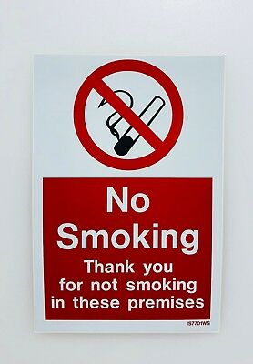 No Smoking warning stickers *Pack of 5* 150x200mm Sign double sided window/door