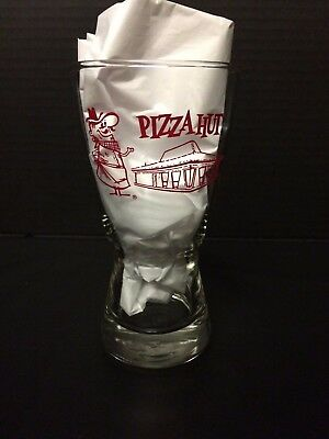 Vintage 1970's Original Retro Pizza Hut Red  Pete Beer Pilsner Glass
