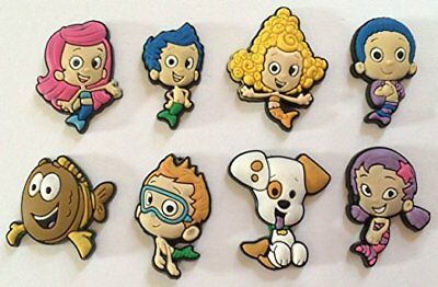 8 Bubble Guppies Mix Shoe Charms Crocs Croc Jibbitz Crafts Cake Toppers