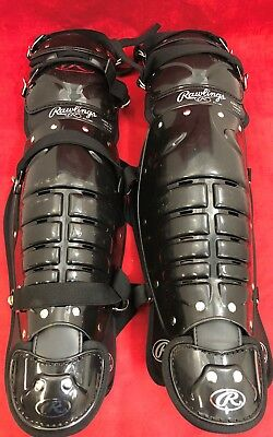 ONE PAIR RAWLINGS Softball Baseball Catcher's Gear Umpire Shin Guards Poor Cond.