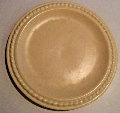 """Catalina Island Vintage Pottery - Matte Yellow Rope Edge 10 3/4"""" Dinner Plate"""