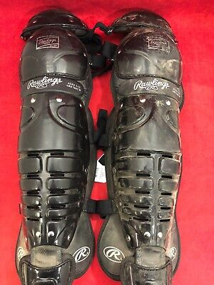 ONE PAIR RAWLINGS Softball Baseball Catcher's Gear Umpire Shin Guards ARD Poor