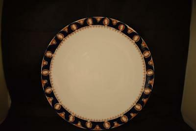 Antique Very Rare Royal Albert Crown China ''Rhymis'' Navy Blue Plate 1917-1925