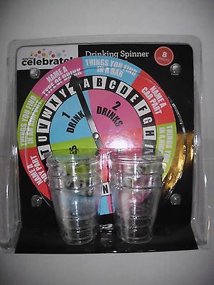 Drinking Spinner Game Party Camping Fun Game with Shot Glasses New in Package
