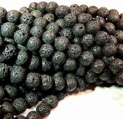 Natural Lava Beads Diffuser Beads Scent Aromatherapy Black 8-9mm Bulk Wholesale