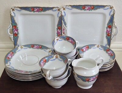 Vintage Sutherland 'Zaritza' Floral Tea Service, Serves 6, 21 Pieces In Total