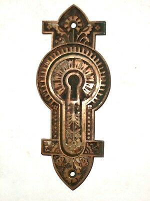 Antique Ornate Fancy Eastlake Pocket Door Pull Gothic Revival Design