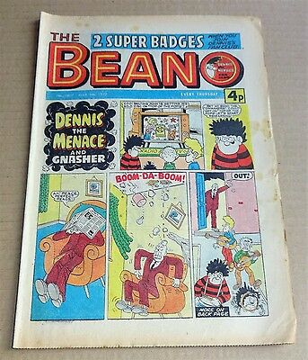 """D.C.THOMPSON  """"BEANO""""  COMIC #1807   DATED  MARCH  5th 1977"""