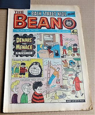 """D.C.THOMPSON  """"BEANO""""  COMIC #1816   DATED  MAY 7th 1977"""