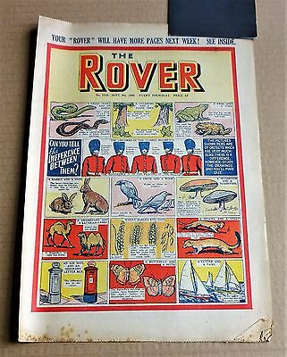 "VINTAGE  D.C.THOMPSON  ""ROVER""  COMIC #1315  DATED  SEPTEMBER 9th 1950"
